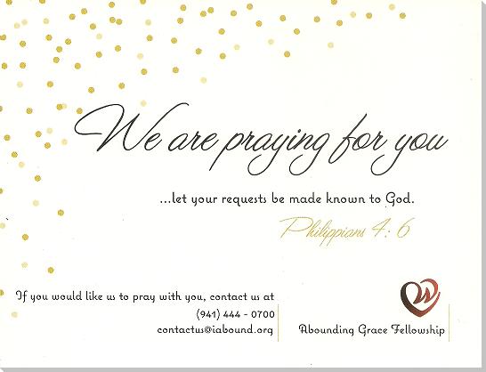 Praying For You Card